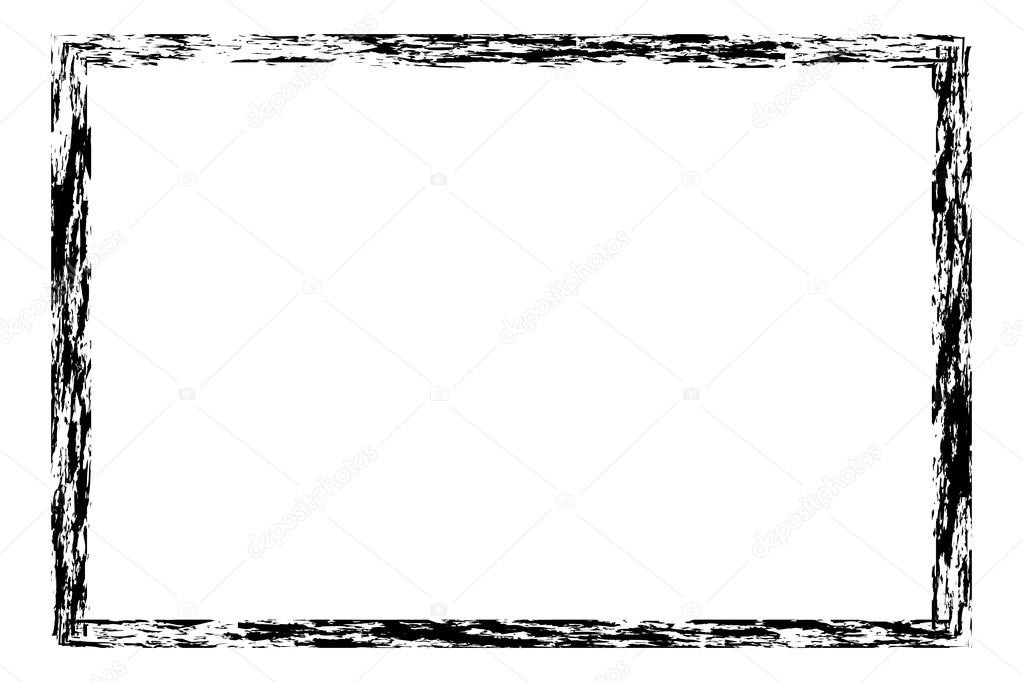 Grunge, distressed, rough frame or border — Stock Vector © -panya ...