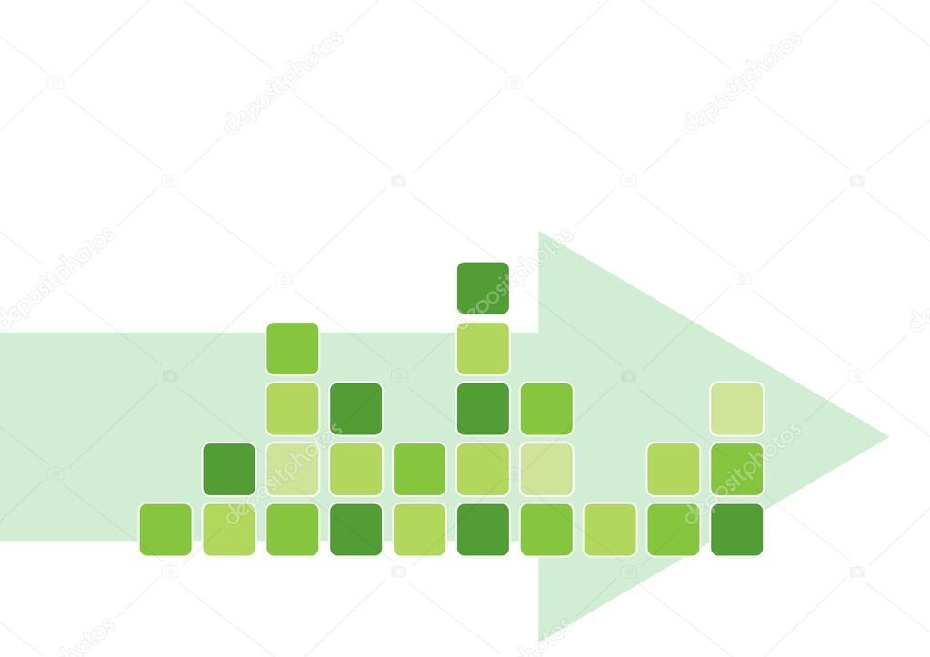 Plantilla de tabla de objeto cuadrado verde moderno con disminuyendo ...