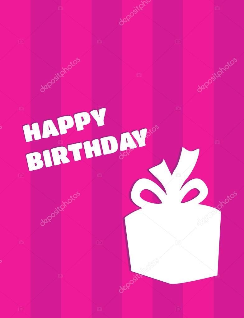 verjaardagskaart met cadeau
