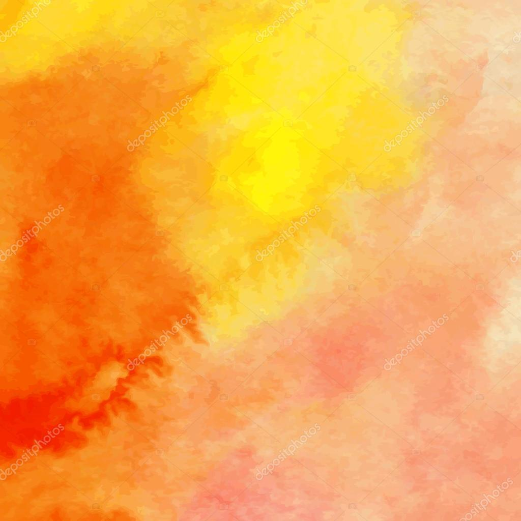 Orange And Yellow Watercolor Background