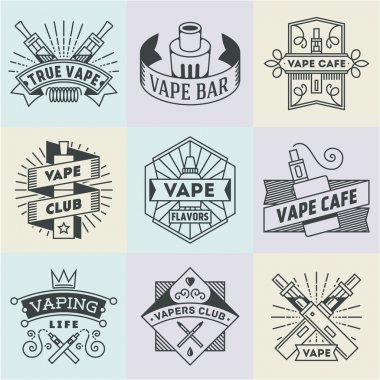 Vape Logotypes Set