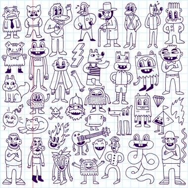 Dudes doodle set