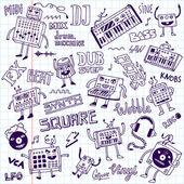 MIDI-vezérlők szintetizátor doodles
