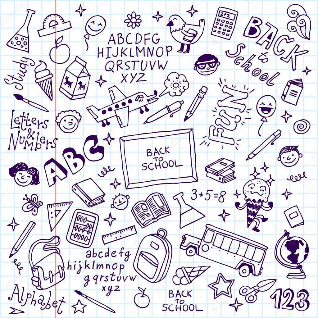 Retour 224 L 233 Cole Doodle Jeu Portable Image Vectorielle