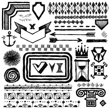 Drawn design elements