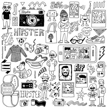 Hipster swag  set