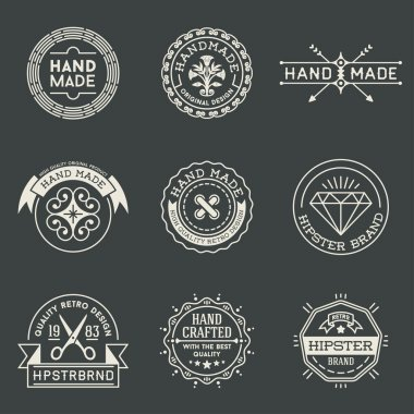 Retro logotypes set