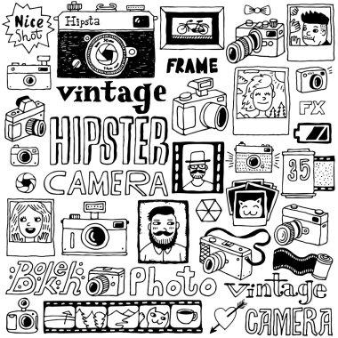 Hipster cameras set
