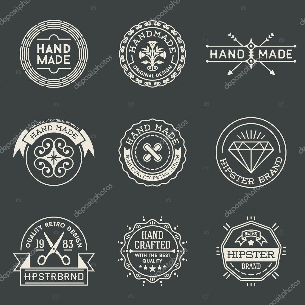 Retro logotypes set