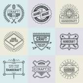 Assorted retro design insignias