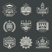 vysoké školství logotypy sada