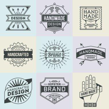 Assorted retro design insignias