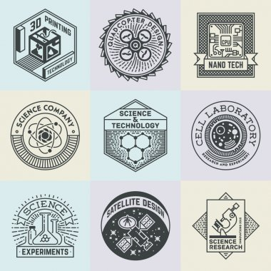 Assorted Science Insignias