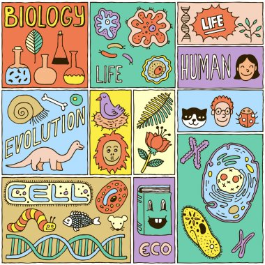Biology Science Banners set.