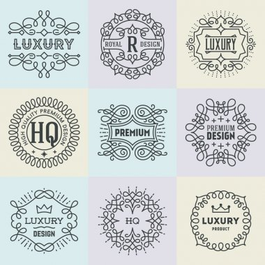 Retro Design Luxury Insignias