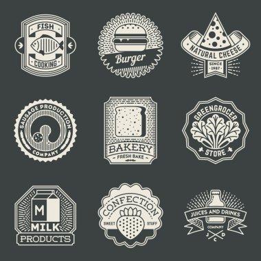 Food Insignias Logotypes Template Set.