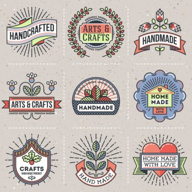 retro design insignias logotypes set.