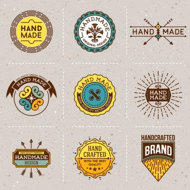 Assorted retro design color insignias