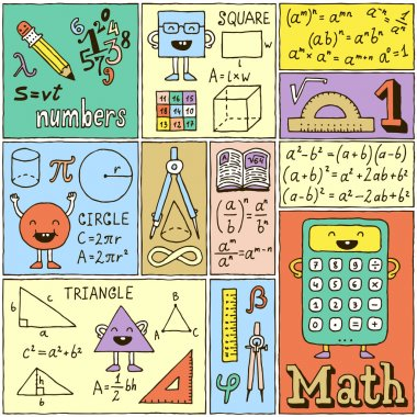 Math Science Banners set.