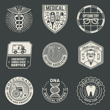 Medical Insignias Logotypes Template