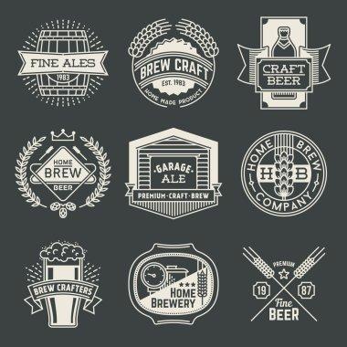 logotypes home brewery set