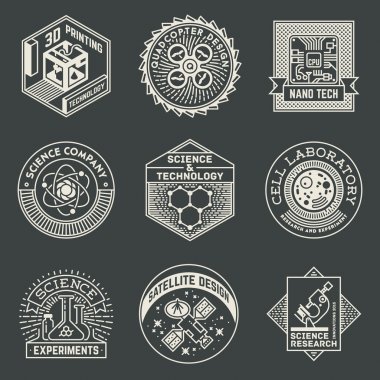 Science Insignias Logotypes Elements.