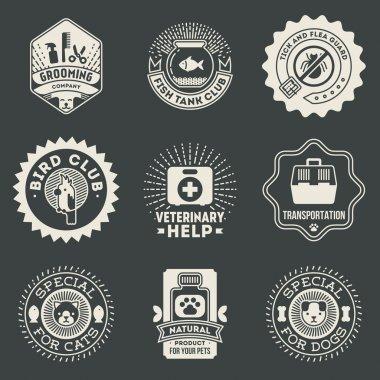 Pet Veterinary Insignias Logotypes