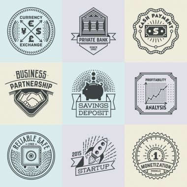 Financial Business Insignias Logotypes