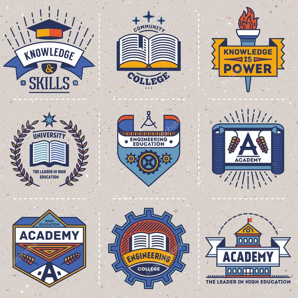 high education logotypes