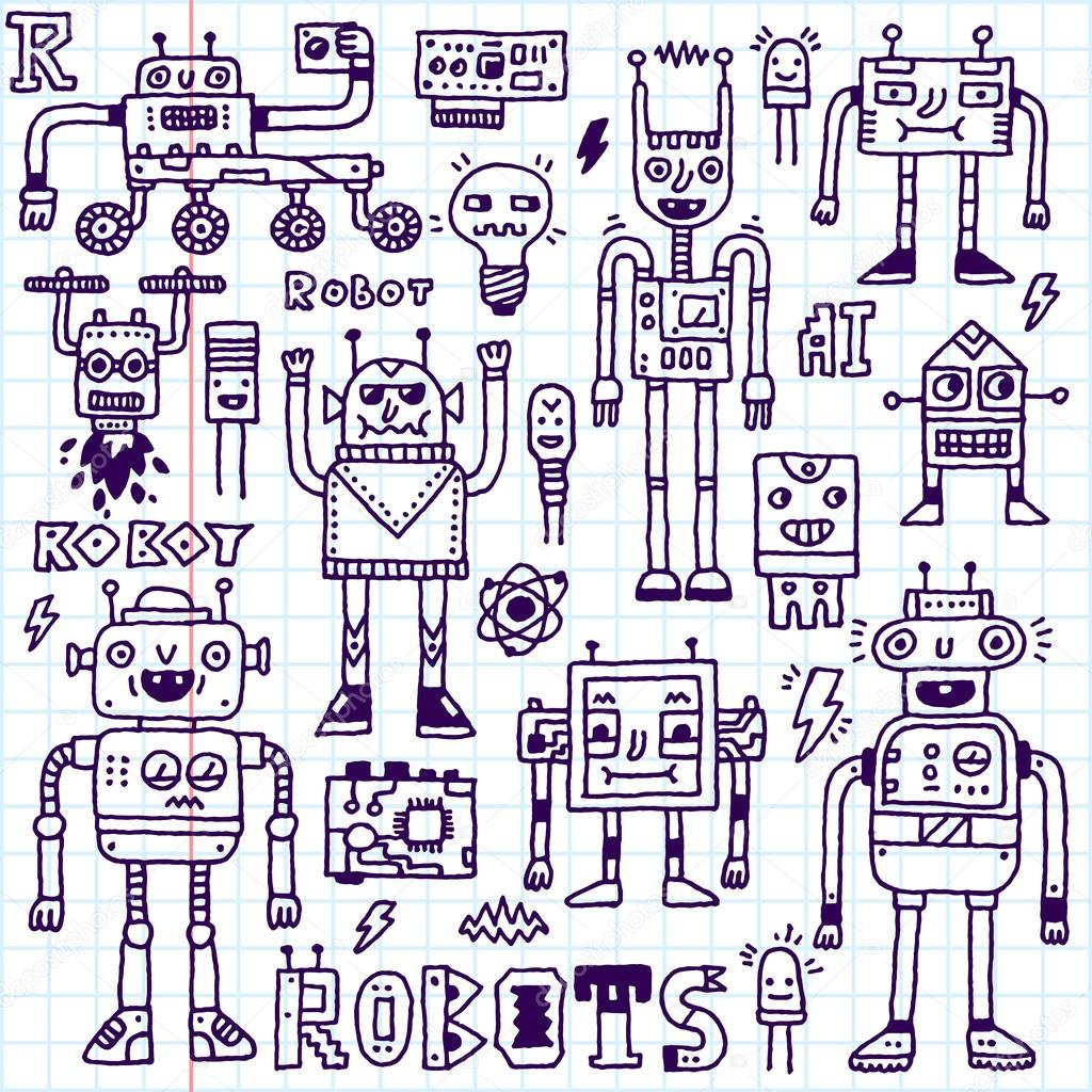 Circuito Eletricos : Circuitos elétricos robôs microschemes u vetor de stock