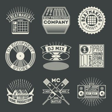 musical hip hop logotypes