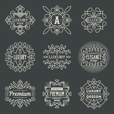 Retro design luxury logotypes