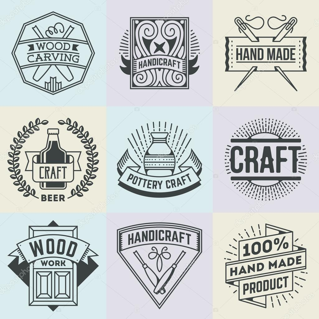 Craft Insignias Logotypes Template Set