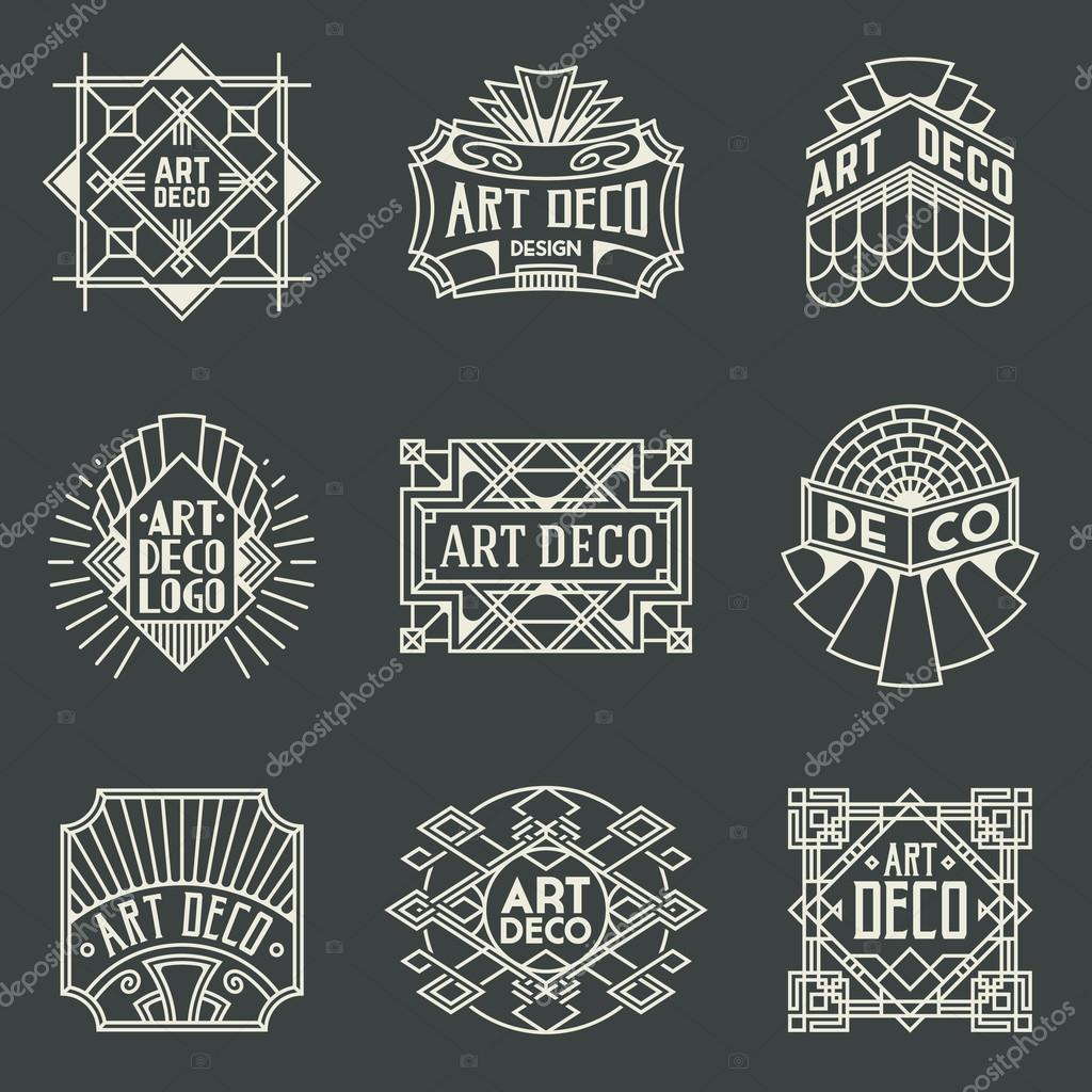 art deco design retro design d 233 co logotyper stock vektor 29737