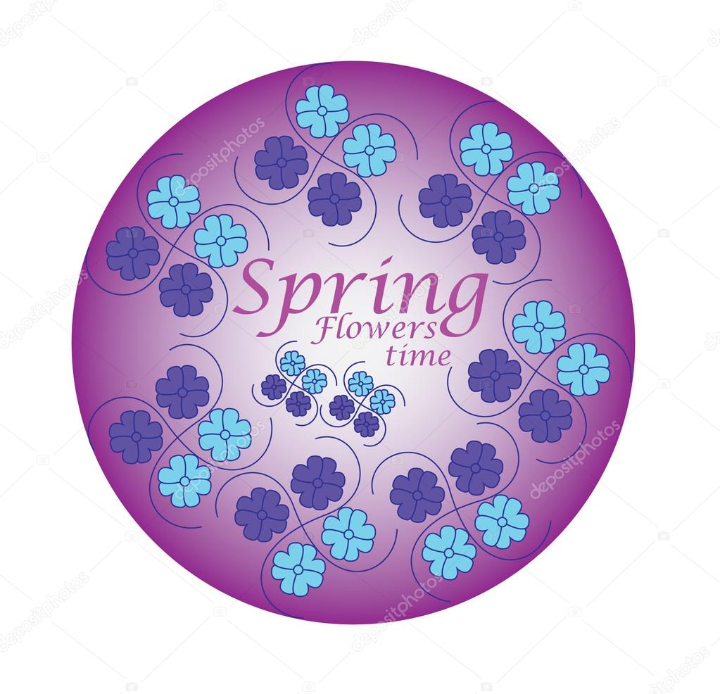 spring flowers vector draw trace free design u2014 stock vector