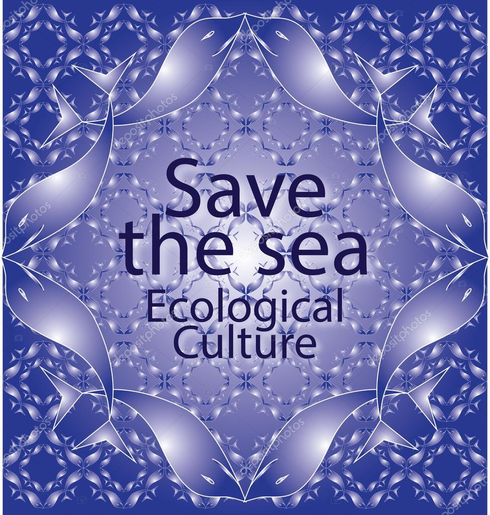 Save the sea blue