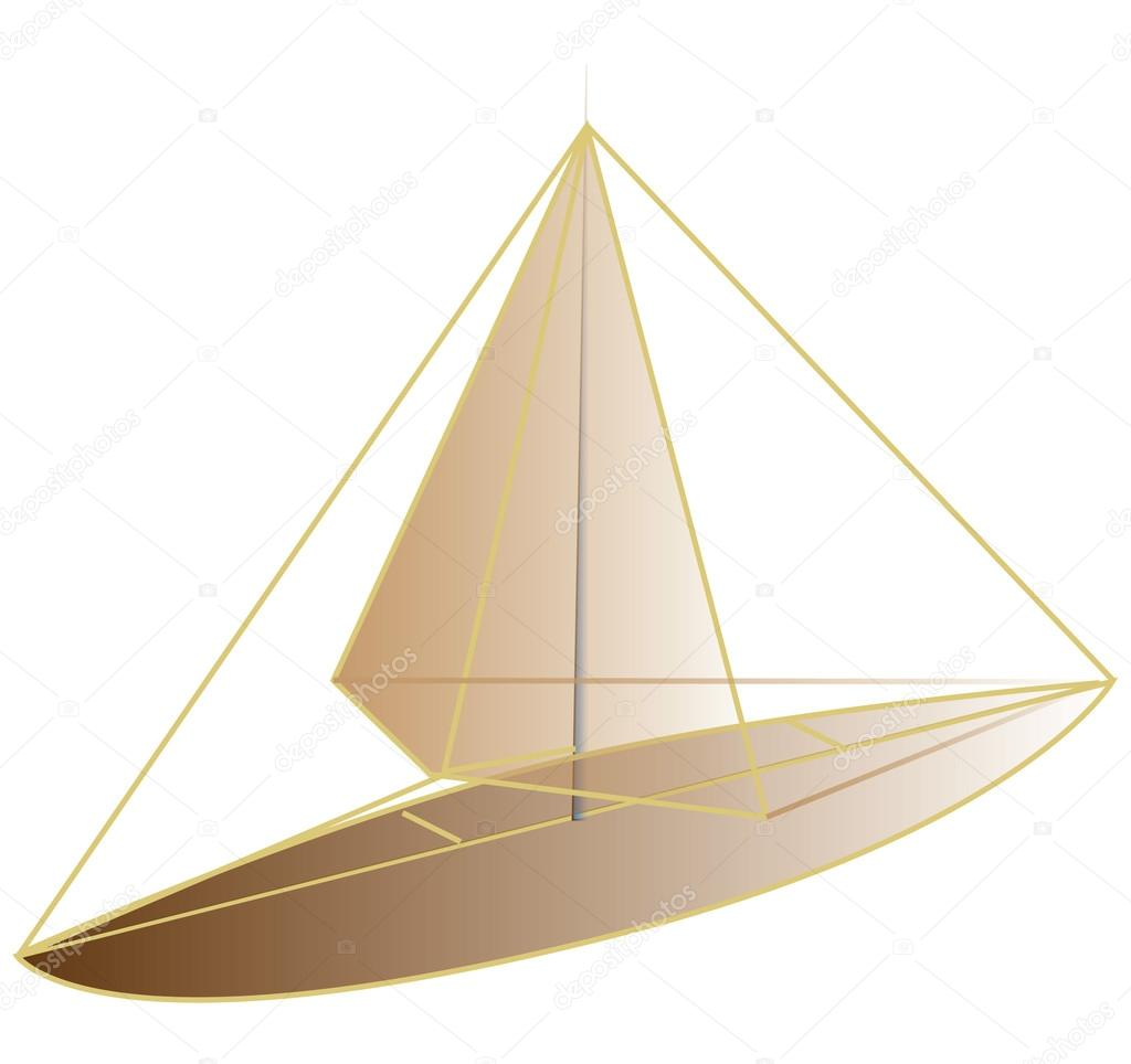 Boat Design Draw Trace Free Design Stock Vector C Thandreola