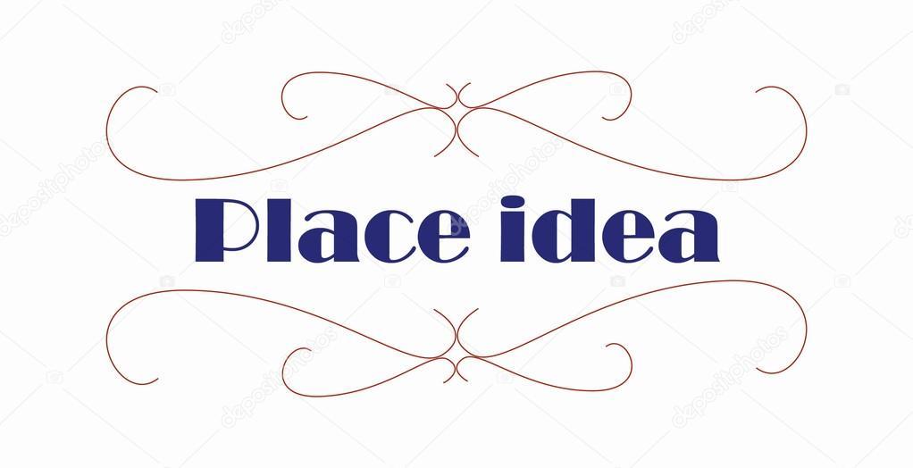 Amado Arabesco logotipo lugar idéia design de desenhar o traço — Vetor  OQ86