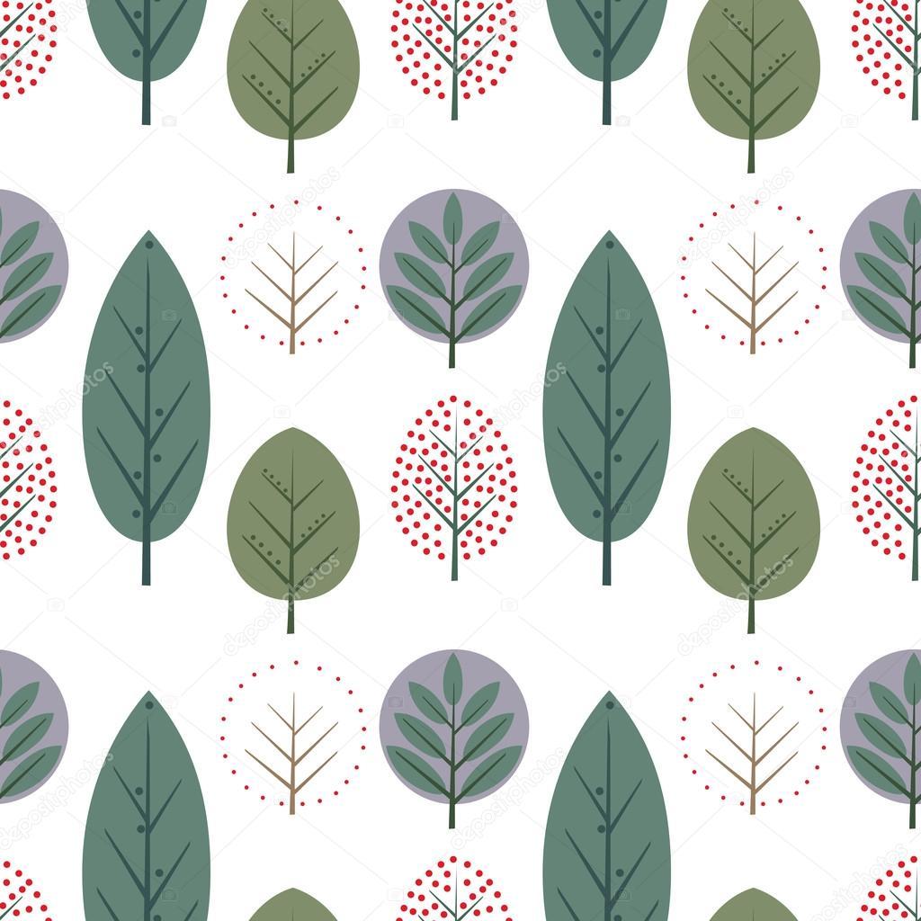 装飾的な葉のシームレスなパターンかわいい自然の背景 ストック