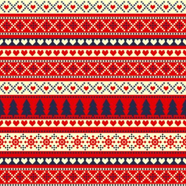 Seamless pattern for winter holidays
