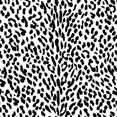 Black and white leopard background.