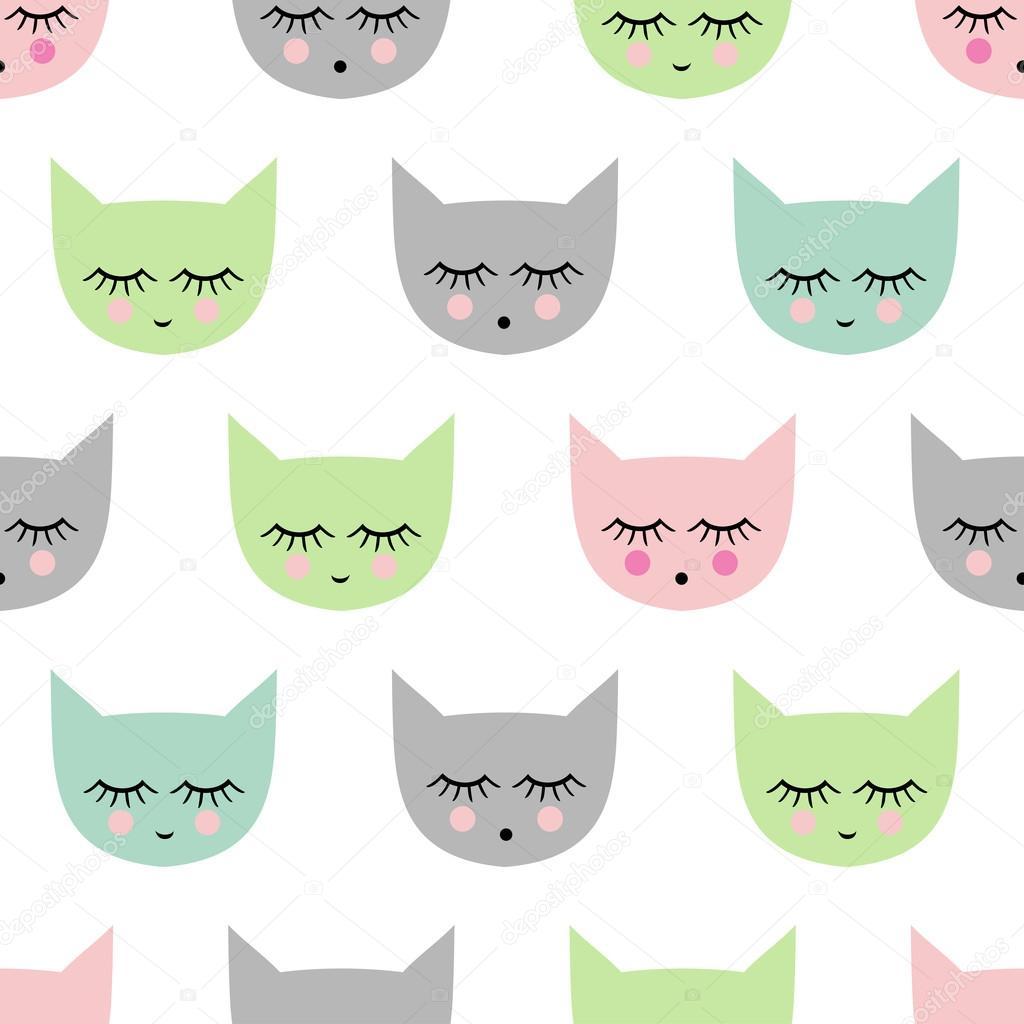 Dibujos: fondos del gato sonriente | gatito de estilo dibujo ...