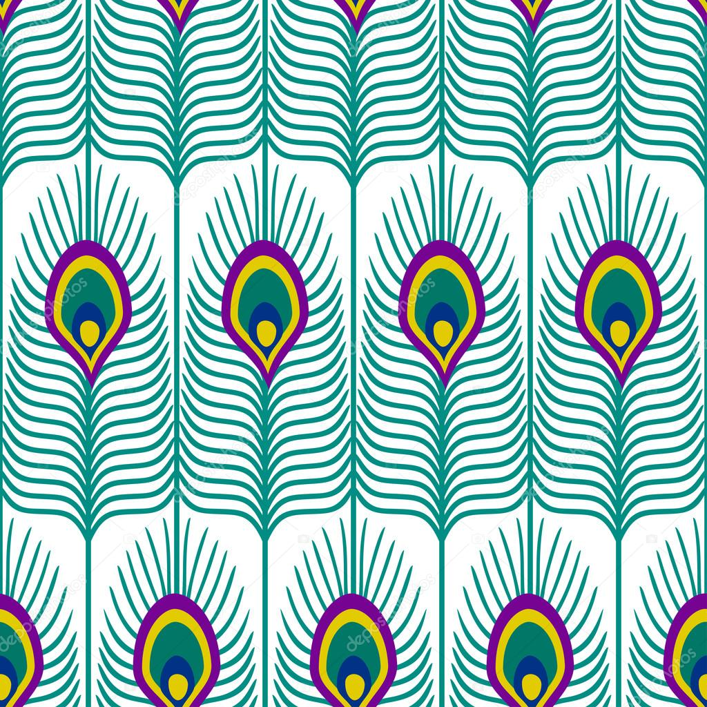 vector abstract peacock seamless - photo #11
