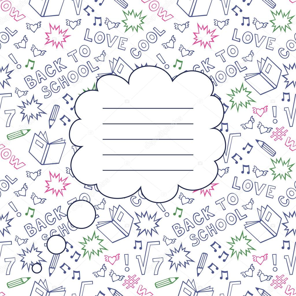 back to school seamless background with space for your text. cute