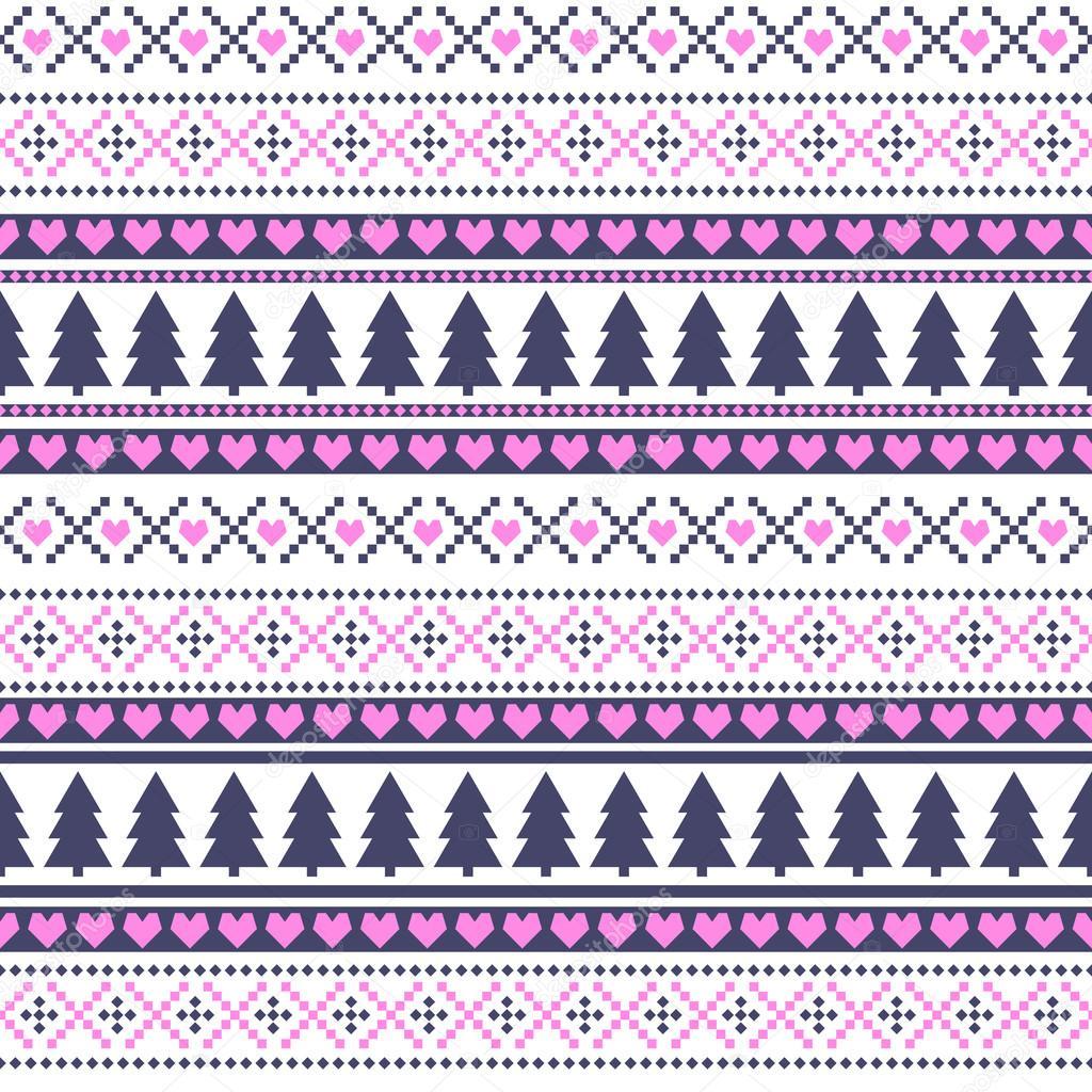Skandinavische muster blau  Muster für Weihnachten, Card - skandinavische Pullover Stil. Rosa ...