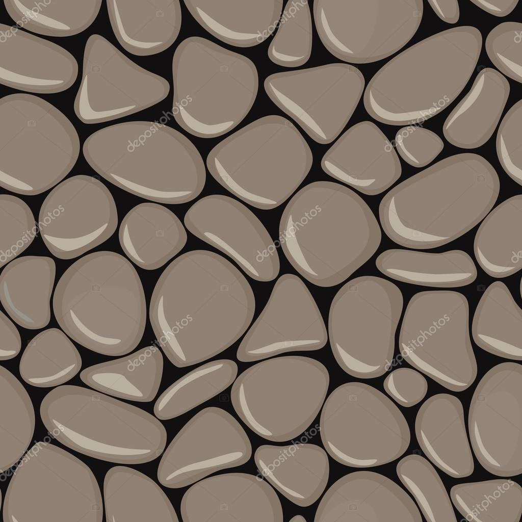 Pebbles seamless pattern. Stone seamless background texture.