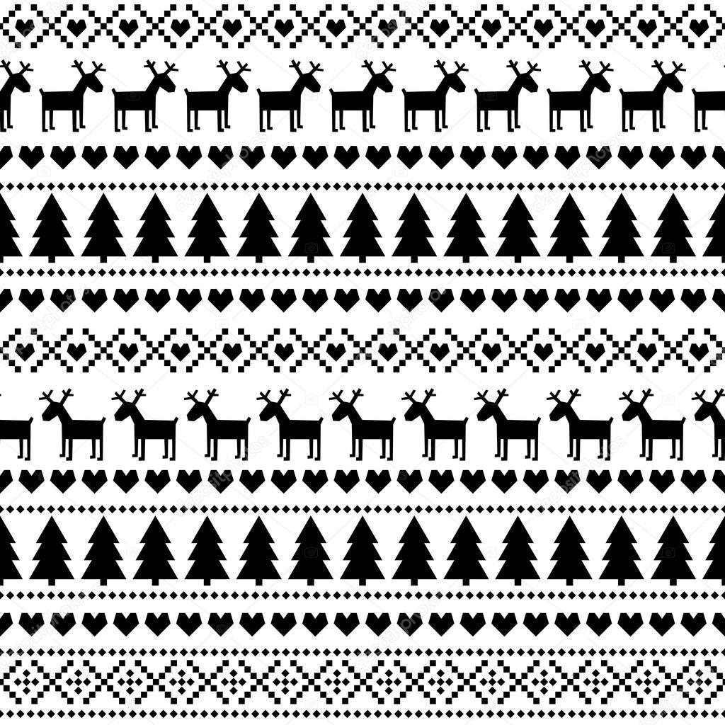 Blanco y negro de patrones sin fisuras de Navidad, tarjeta - de ...
