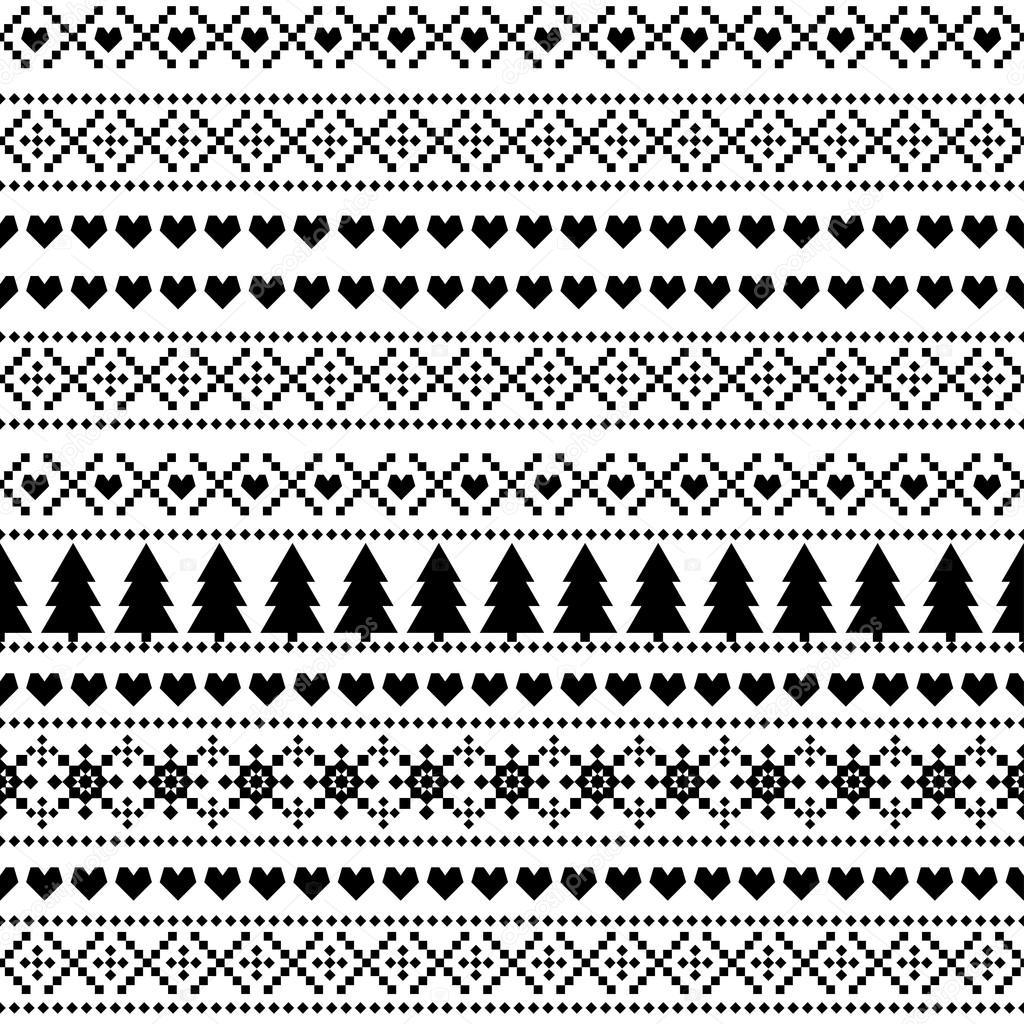 patrón de Navidad de virola, tarjeta - de estilo escandinavo suéter ...