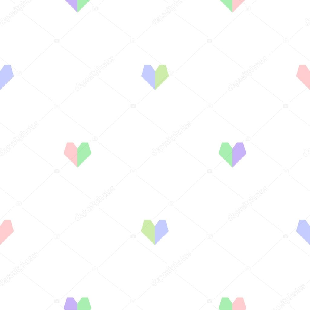 valentine s day background cute seamless vector geometric hearts