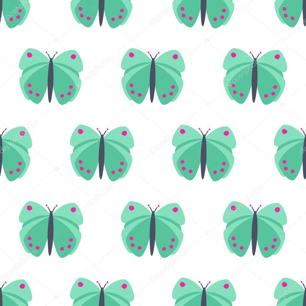Patrón sin fisuras de mariposas verde menta — Archivo Imágenes ...